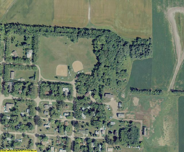 Cass County, ND aerial photography detail