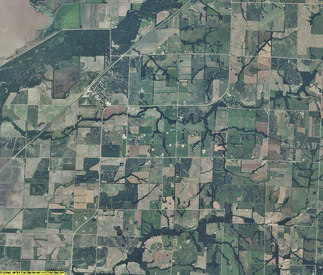 Chariton County, Missouri aerial photography
