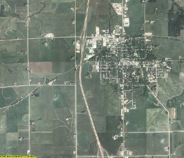 Chickasaw County, Iowa aerial photography