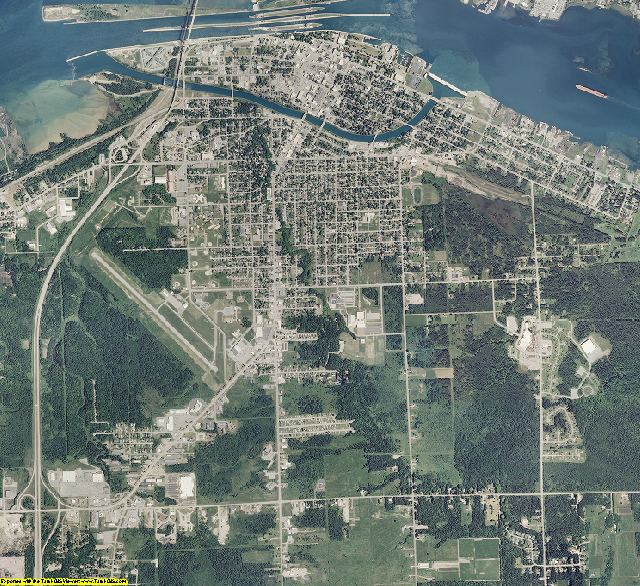 Chippewa County, Michigan aerial photography