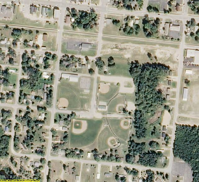 Clare County, MI aerial photography detail