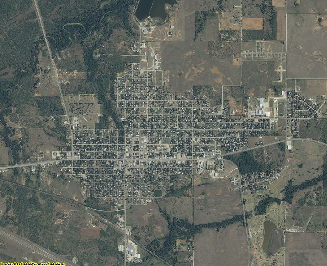 Clay County, Texas aerial photography