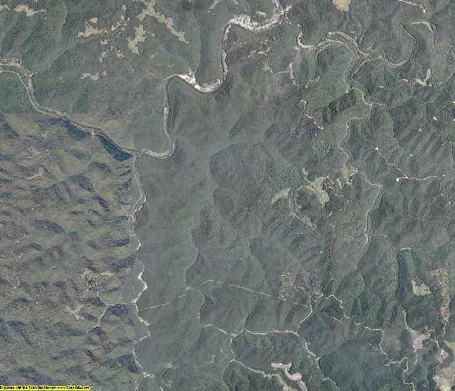 Clay County, West Virginia aerial photography