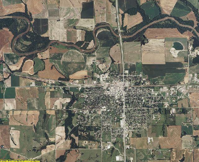 Cloud County, Kansas aerial photography