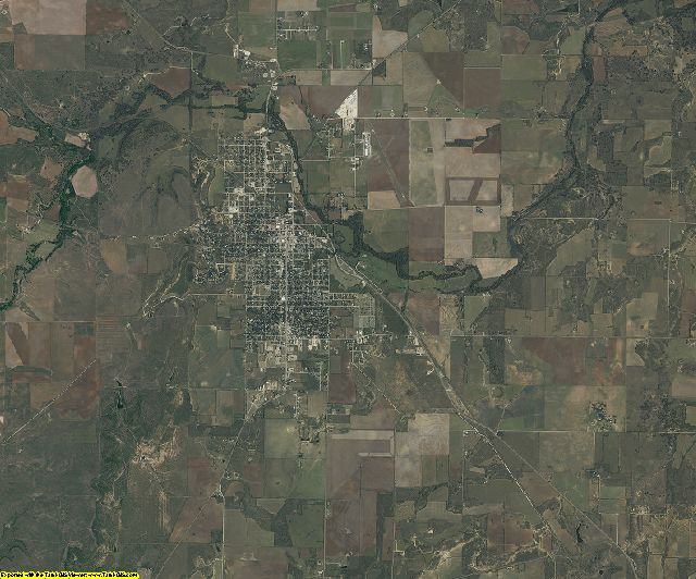 Coleman County, Texas aerial photography