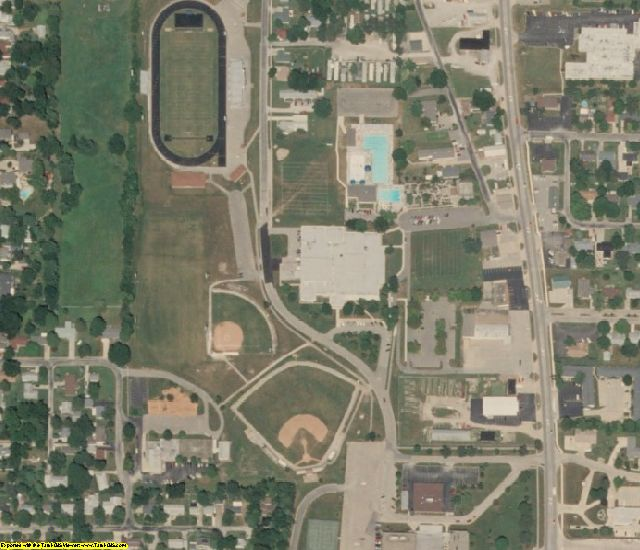 Coles County, IL aerial photography detail