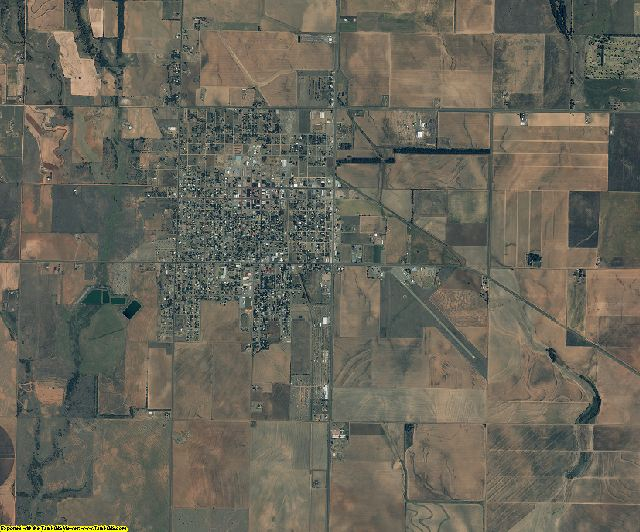 Collingsworth County, Texas aerial photography