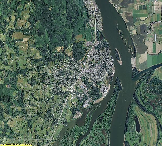 Columbia County, Oregon aerial photography