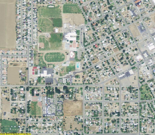Colusa County, CA aerial photography detail