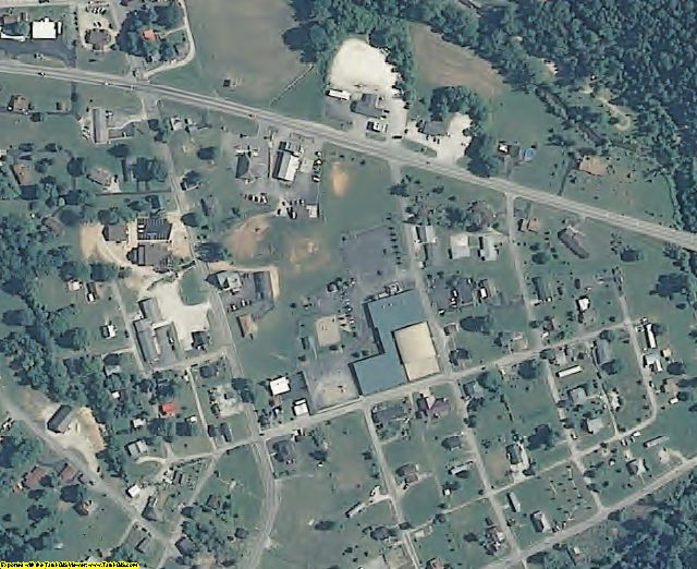 Crawford County, IN aerial photography detail