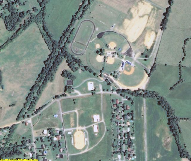 Crittenden County, KY aerial photography detail