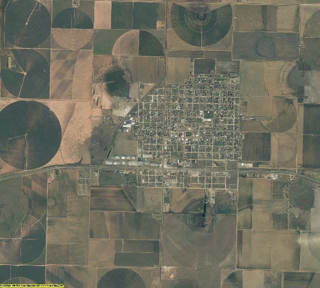 Crosby County, Texas aerial photography