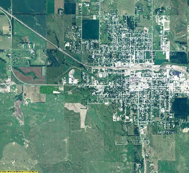 Custer County, Nebraska aerial photography