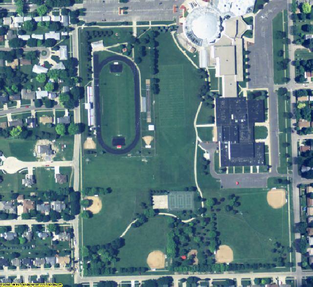 Dakota County, NE aerial photography detail