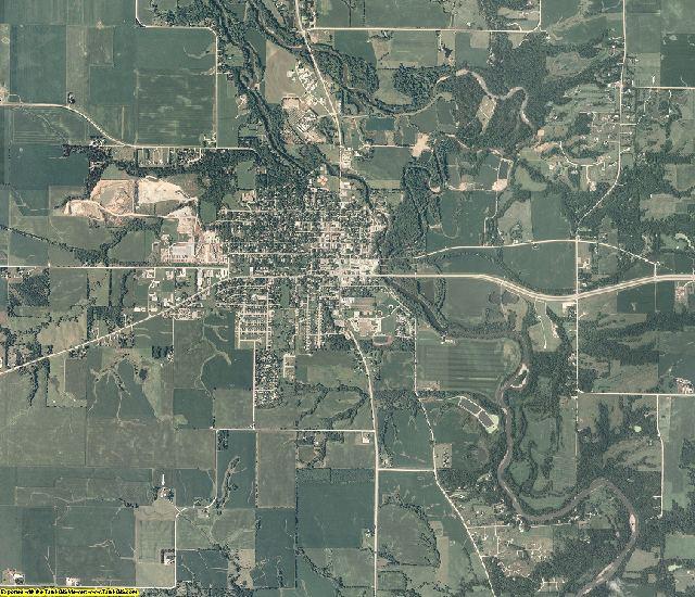 Dallas County, Iowa aerial photography