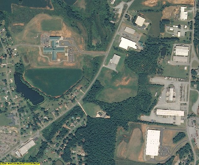 Davidson County, NC aerial photography detail
