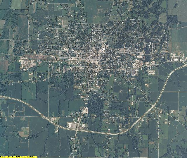 Daviess County, Indiana aerial photography