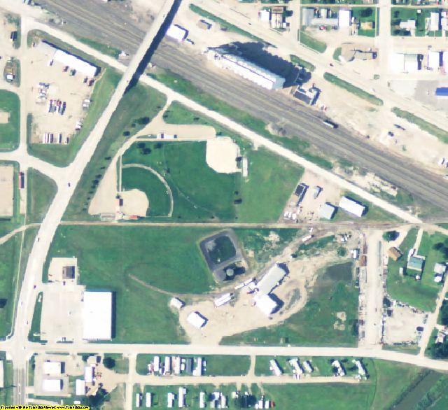 Dawson County, NE aerial photography detail