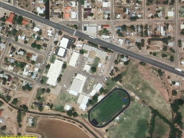 De Baca County, NM aerial photography detail