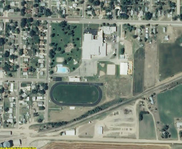 Decatur County, KS aerial photography detail