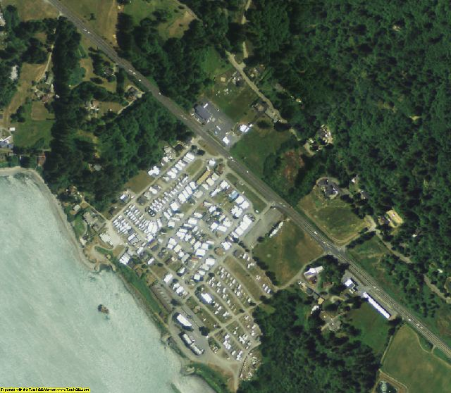 Del Norte County, CA aerial photography detail