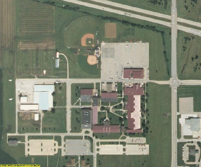 Des Moines County, IA aerial photography detail