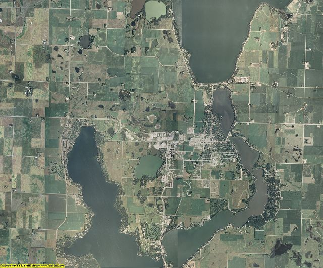 Dickinson County, Iowa aerial photography