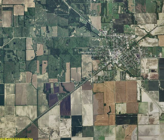 Dunklin County, Missouri aerial photography