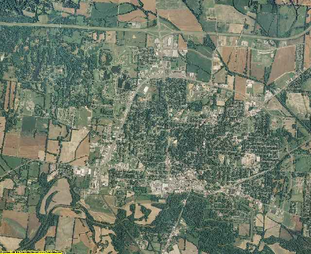 Dyer County, Tennessee aerial photography