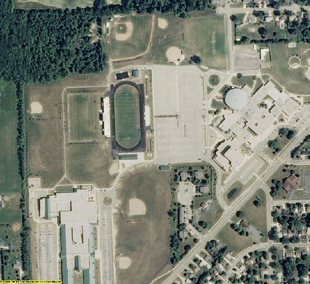 Eaton County, MI aerial photography detail