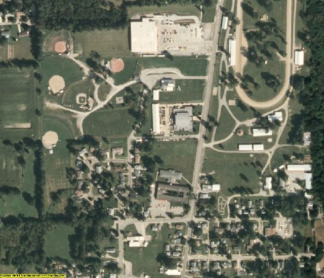 Edgar County, IL aerial photography detail