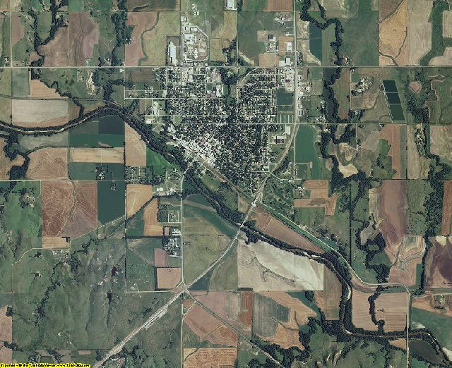 Ellsworth County, Kansas aerial photography