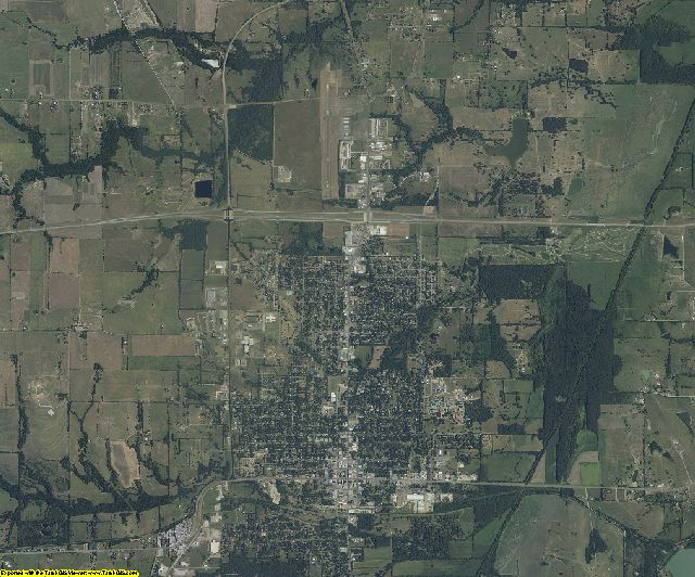 Fannin County, Texas aerial photography