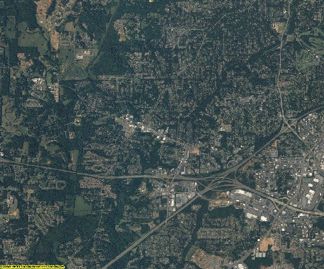 Forsyth County, North Carolina aerial photography