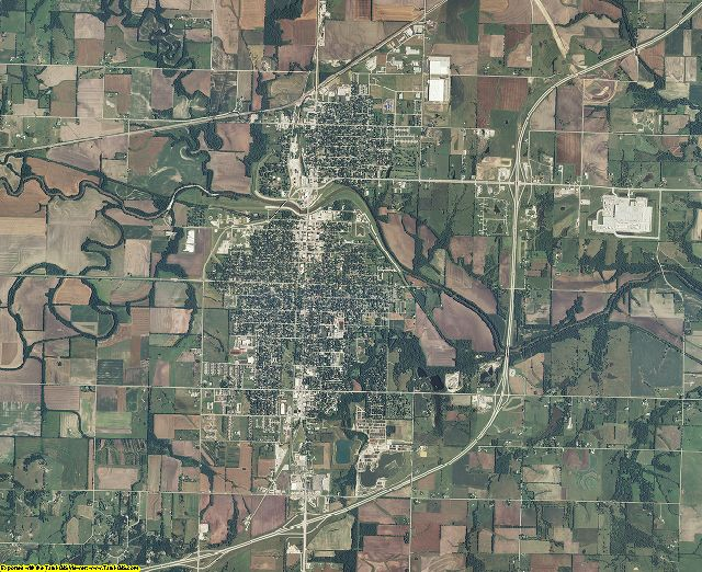 Franklin County, Kansas aerial photography