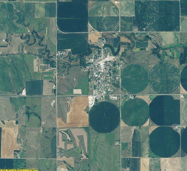 Franklin County, Nebraska aerial photography