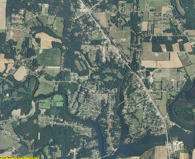 Franklin County, Tennessee aerial photography