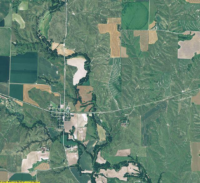 Frontier County, Nebraska aerial photography