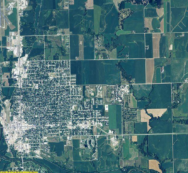 Gage County, Nebraska aerial photography