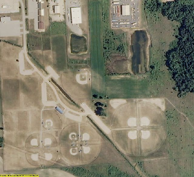 Gladwin County, MI aerial photography detail