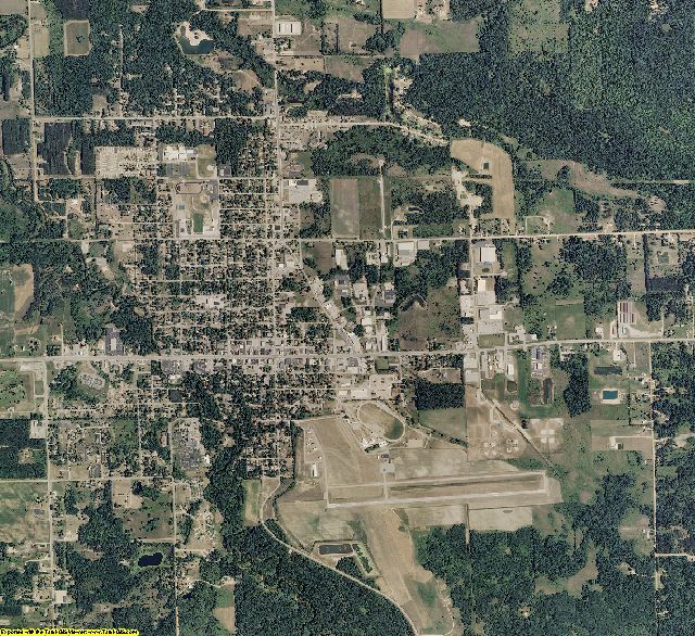 Gladwin County, Michigan aerial photography