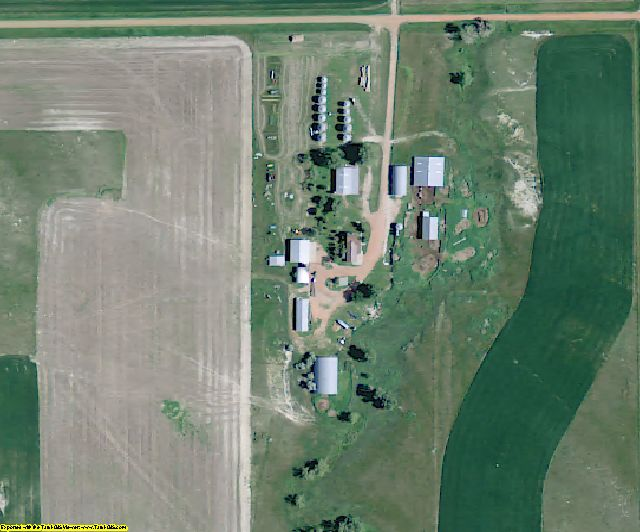 Golden Valley County, ND aerial photography detail