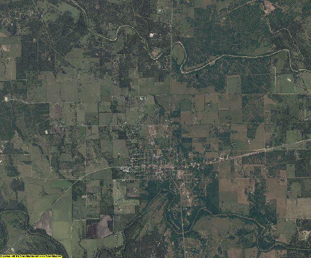 Goliad County, Texas aerial photography