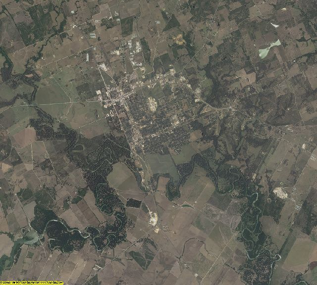 Gonzales County, Texas aerial photography