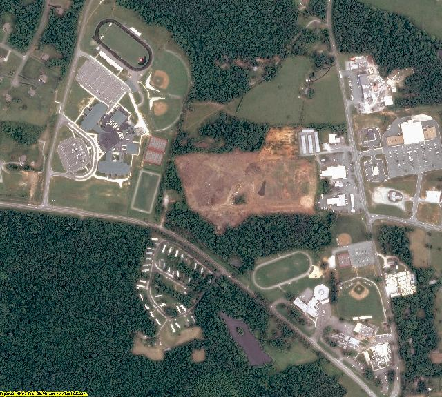 Goochland County, VA aerial photography detail