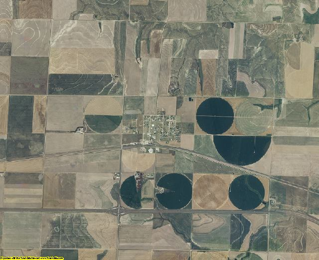 Gove County, Kansas aerial photography