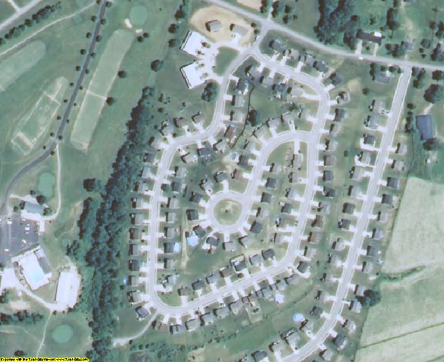 Grant County, KY aerial photography detail