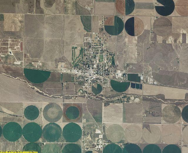 Gray County, Kansas aerial photography