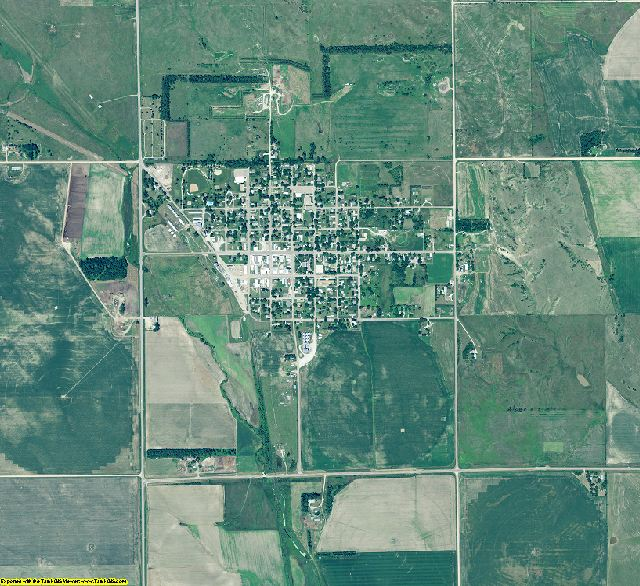 Greeley County, Nebraska aerial photography