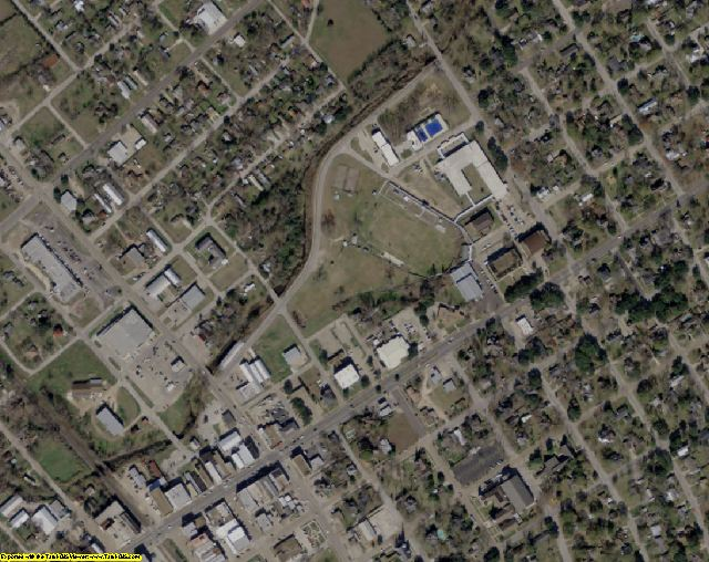 Grimes County, TX aerial photography detail
